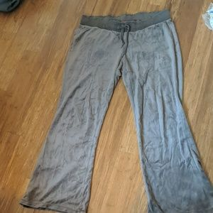 Mossimo Brown velvet flat Pocket lounge pants XXL